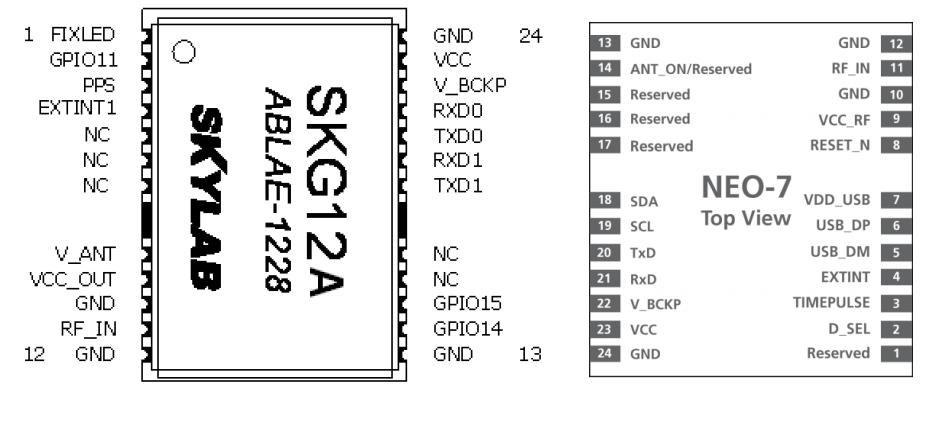 gps模块skg12a/bl和neo系列