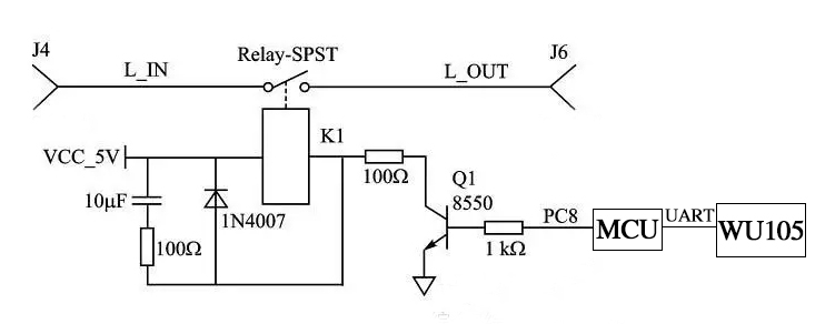 wifi插座的继电器控制电路